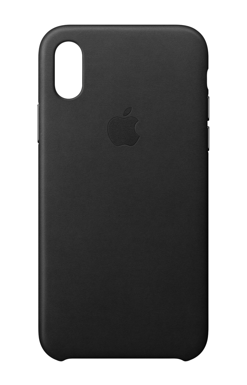 the latest 5be08 e7dd3 Apple Leather Case Black for iPhone X