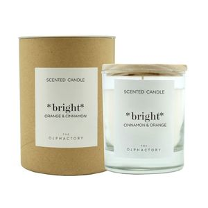40H Vegetable Scented Candle Orange Cinnamon Bright