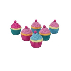 Set Of 6 Cupcake Erasers