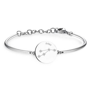 Bracelet With Engraved Zodiac Sign Discand