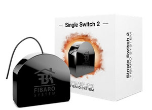 Fibaro Single Relay Switch Black
