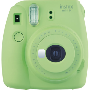 Fujifilm Instax Camera Mini9 Lime Green +Instax Mini Film Single Pack
