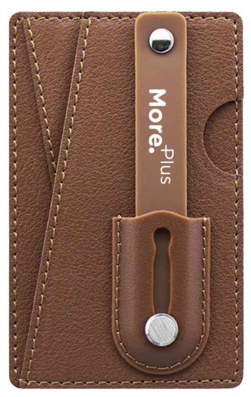 competitive price 34502 0f802 More Plus Magic Push Card Mobile Grip with Card Holder Brown