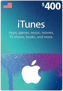 Itunes Giftcard 400 Us Store