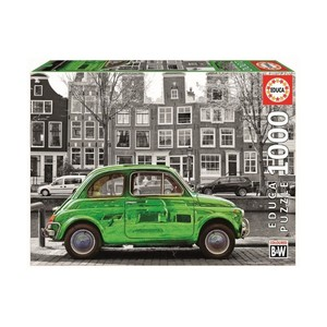 1000 Car In Amsterdam Coloured B&W Puzzle