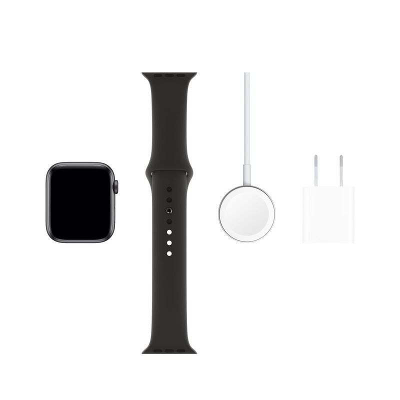 Apple Watch Series 5 GPS 44mm Space Grey Aluminium Case with Black Sport Band S/M & M/L