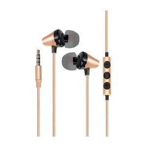 Promate In Ear Stereomearphones With Inline Mic Gold