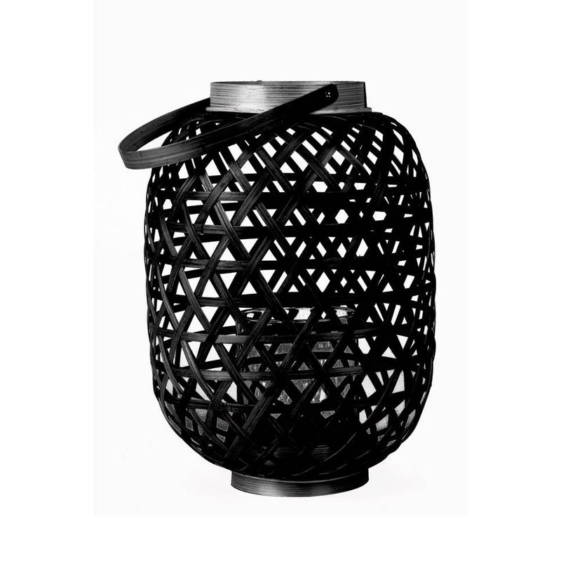 Lantern Lattice Bamboo Black Medium