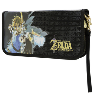 Pdp Zelda Breath Of The Wild Game Traveler Deluxe Travel Case Link Black for Nintendo Switch
