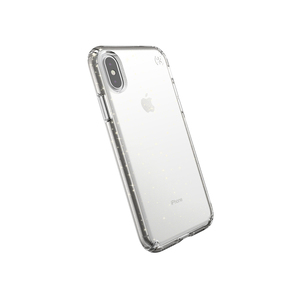 Speck Presidio Clear + Glitter Case Clear with Gold Glitter/Clear for iPhone XS