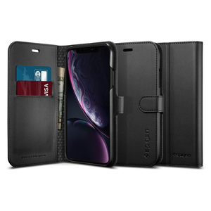 Spigen 064CS24881 mobile phone case Wallet case Black