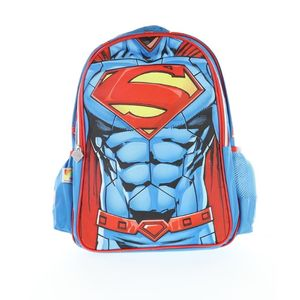Superman Backpack 2 Main Compartments And 2 Side Pockets 18 3D Muscle