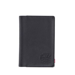 Raynor passport holder leather rfidblack pebbled leather