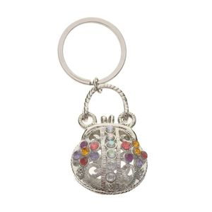 Diamante Clasp Purse Charm
