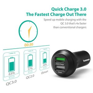 Ravpower Rpvc007 40W Dual Port Qc30 Carcharger