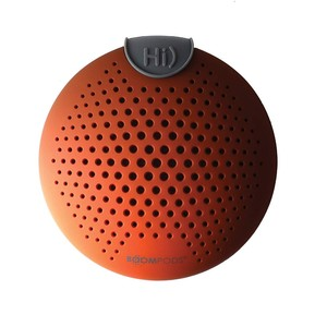 Boompods Soundclip Bluetooth Speaker Ipx6 Amazon Alexa Integrated Orange