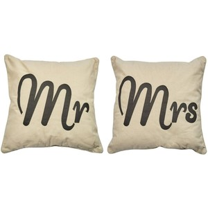 Mr / mrs cushion
