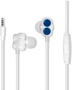 Promate Swift Blue Heavy Bass Wired Earphones With In-Line Mic