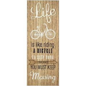 Life Is Like Riding A Bicycle 3D Sign