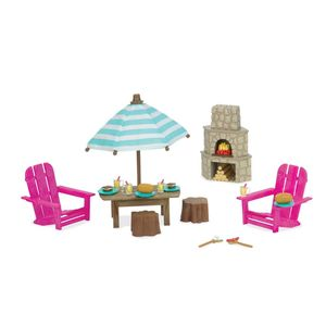 PATIO SET & OUTDOOR FIREPLACE