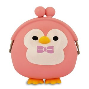 Pink Penguin Silicone Purse