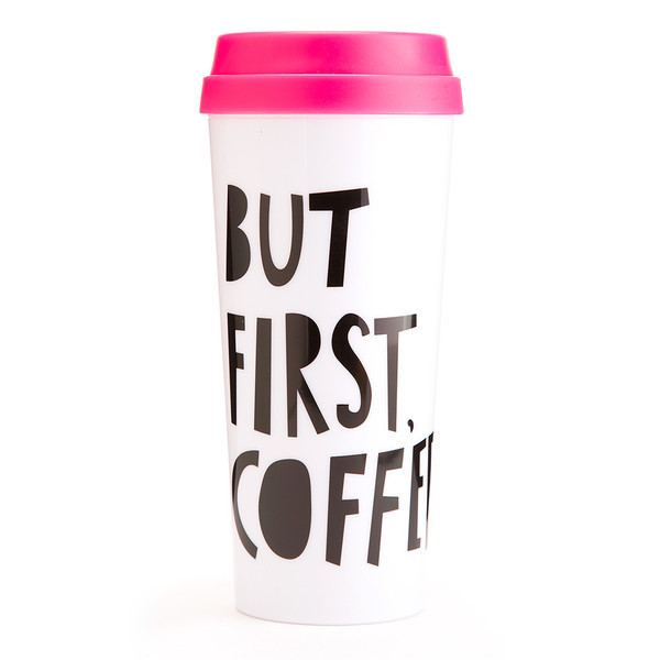 Ban.do Hot Stuff Thermal Mug But First Coffee