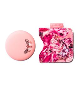 Botanical Floral Compact Mirror In A Pouch In C