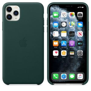 iPhone 11Pro Leather Case Forest Green