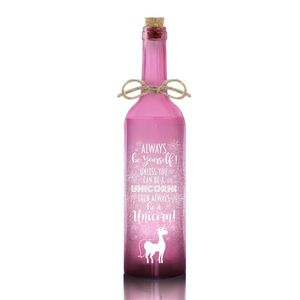 Led Bottle Pink Unicorn