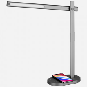Momax Q.Led Space Grey Desk Lamp with Wireless Charging Base
