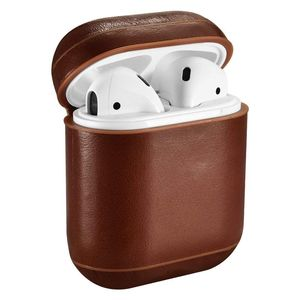 More Plus Vintage Leather AirPods Protective Case Brown