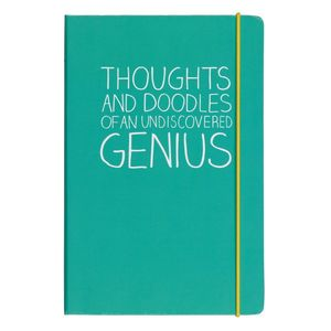 Happy Jackson Thoughts & Doodles A5 Notebook Green