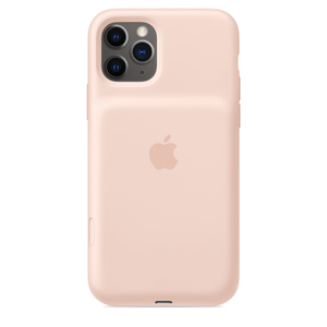 iPhone 11 Pro Smart Battery Case with Wireless Charging Pink Sand