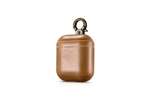 More Plus Hook'D Series Real Leather Airpods Case With The Metal Hook Brown