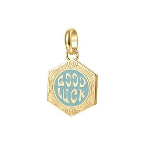 Good Luck 316 Stainless Steel Gold Ovd and Coloured Enamel