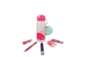 GoGoPo Pink Sports Bottle Bundle