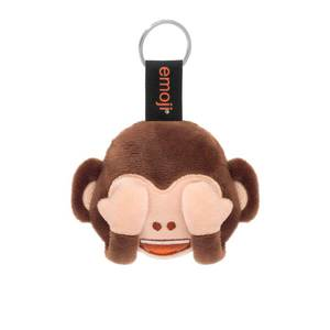 Emoji Monkey Eyes Official Brown Keychain
