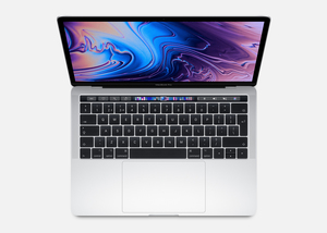 Macbook Pro 13-Inch With Touch Bar Silver 2.4Ghz Quad-Core 8Th-Generation Intel-Core I5/256Gb Arabic/English