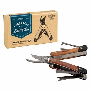 Garden Multi Tool Acacia Wood Titanium Finish