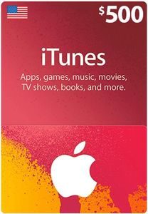 Itunes Giftcard 500 Us Store