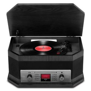 Ion Octave Lp 8-In-1 Turntable Black