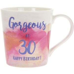 Watercolour Happy 30Th Mug