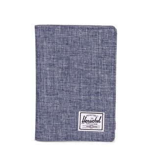 Raynor passport holder rfiddark chambray crosshatch