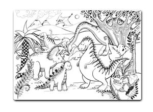 Funny Mat Activity Placemat Jurassic Age