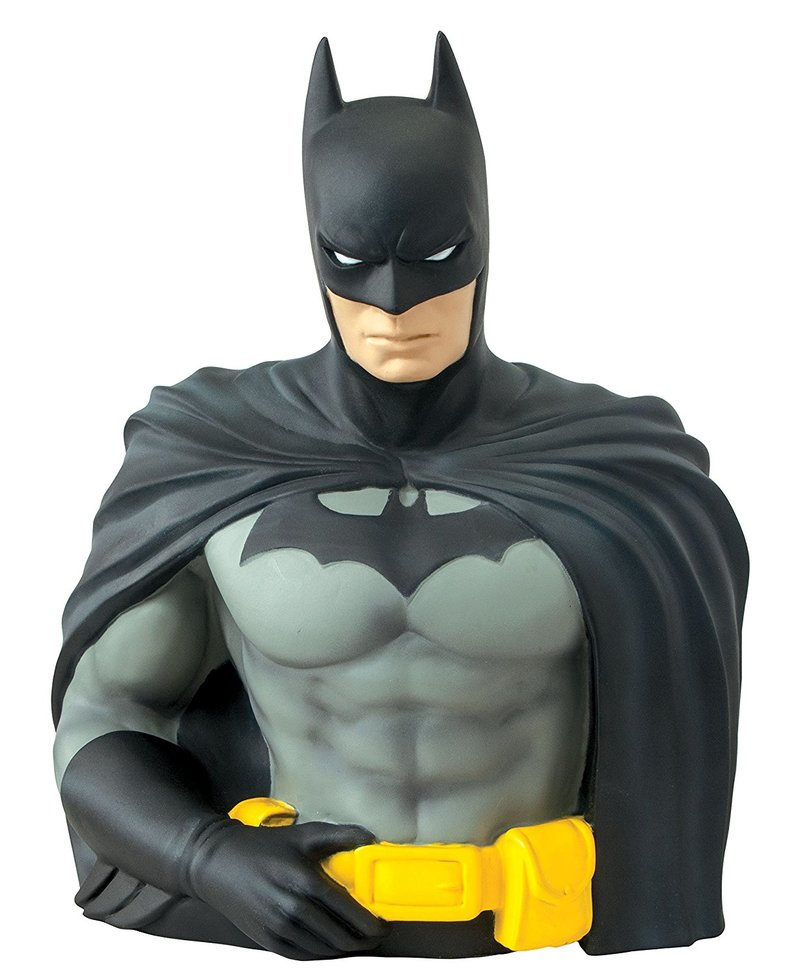 Monogram Batman Bust Coin Bank