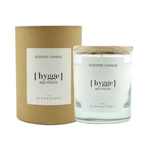 40H Vegetable Scented Candle Red Berries Hygge