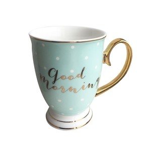 Bombay Duck Good Morning Mint with White Spots Mug