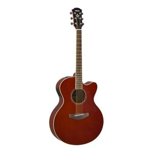 Yamaha CPX600 Electric-Acoustic Guitar Root Beer