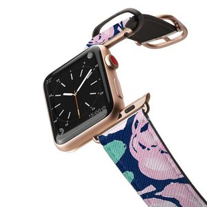 Casetify Apple Watch Band Saffiano All Series 42Mm Aluminum Gold Frame Design 2