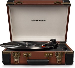 Crosley Executive Brown Portable USB Turntable